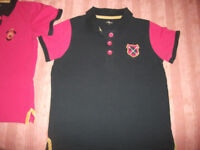 2 x Ladies Horse Riding Polo Shirts - Pink/Navy & Navy/Pink size S (8/10) Pls Phone Aft/Eve.