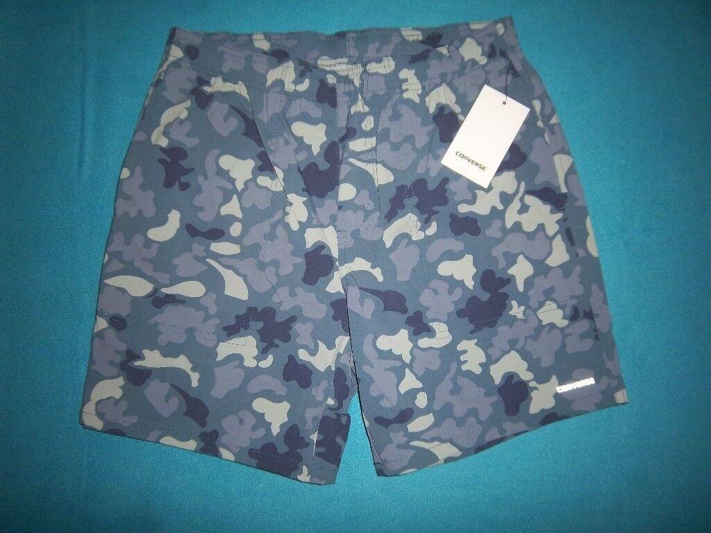 New Mens Converse Blue Camo Shorts Size Small IP1  7bcaab06d11