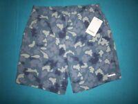 New Mens Converse Blue Camo Shorts Size Small IP1