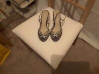 Ladies Silver Evening Sandals