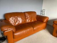 Leather Sofa free!!! X2 and 20 quid cash