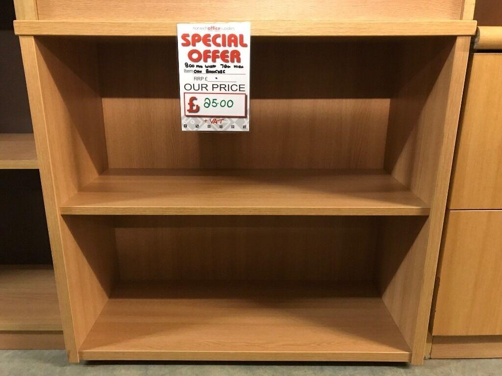 Bookcase, Finished In Oak. With 1 Shelf. 800mm Width x 720mm Height. 3 In Stockin Norwich, NorfolkGumtree - Bookcase, Finished In Oak. With 1 Shelf. 800mm Width x 720mm Height. 3 In Stock. Free delivery for Norfolk & Suffolk