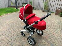 Silver Cross Surf 2 Pram Chassis, Seat and Carrycot