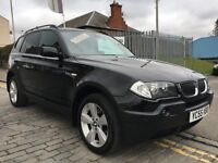 BMW X3 2.0D SPORT, 55 PLATE 2005...THE RIGHT COLOUR AND SPEC....DIESEL....CLASSY MPV....
