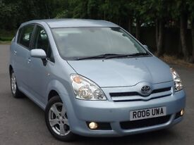 2006 Toyota Corolla Verso 7 Seats, 1 Year Warranty,full history,just servised,long mot,IMMACULATE