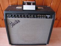 USA Fender Combo with Reverb & Footswitch Guitar Amp