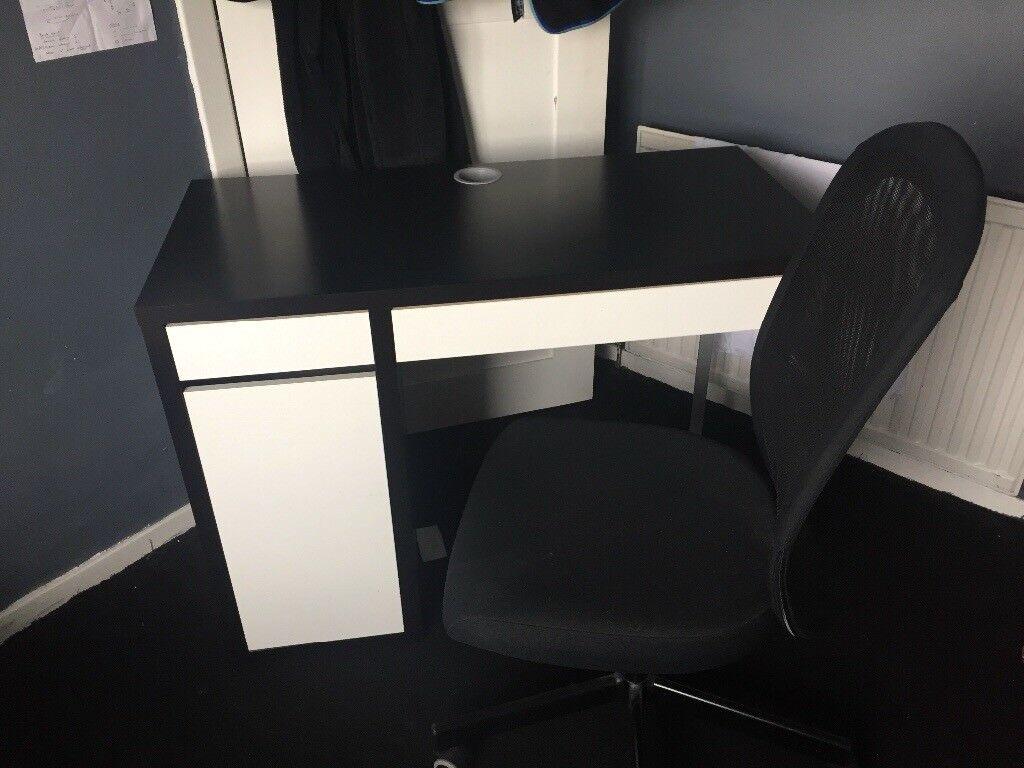 Ikea Micke Desk 105x50 Black Brown And Ikea Flintan