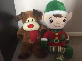 Christmas teddies large new