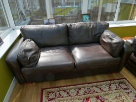 Two 2 seater matching leather sofa's