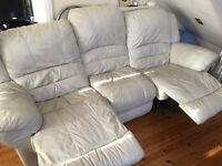 Sofas 1 seater(electric recliner)+3 seater(manualrecliner)