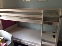 Bunk bed - painted wooden frame