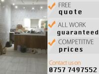 Tiling Plumber Bathroom Electrician Fitter 07577497552 | 24/7 - FREE QUOTE Friendly Professional