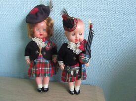 Vintage Scottish dolls