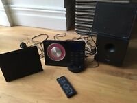 TEAC ipod docking station with CD player, woofer and slimline speakers