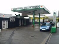 Prime site Drive-In Dry Cleaners and Hand Car Wash - Very profitable on the Busy A6