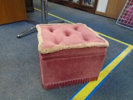 small pink foot stool