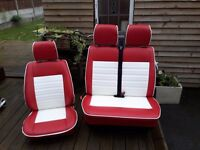 VW T4 seats single and double in vinyl