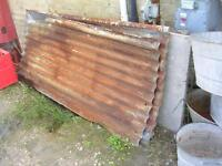 HEAVY GAUGE GALVANIZED METAL CORRUGATED ROOF SHEETS $20 EA.