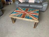 Bespoke handmade Union Jack coffee table