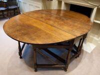 Antique Early 18C Oak Drop Leaf Table
