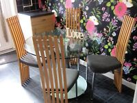 desiner kitchen/dining room table+4 sturdy chairs