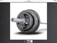 Bodymax 100kg Olympic Cast Tri-Grip Barbell Kit with 7ft bar