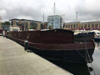 Widebeam Canal Boat (70 x 12.9) with transferrable mooring in London Limehouse Marina