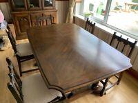 Dining table dark oak
