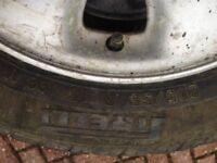 205/55/R15. Three car tyres with Alloy wheels, Pirelli P6000.