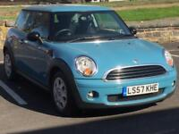 MINI ONE 2008 (57 REG)*£1999*LONG MOT*FULL SERVICE HISTORY*BLUE*CHEAP CAR TO RUN*PX WELCOME*DELIVERY