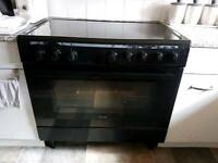 Swan double oven with ceramic hob