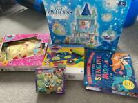 Girls toys books bundle frozen play dough Lego all brand new