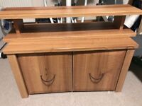 Mamas and Papas Walnut two drawer unit and matching shelf