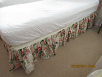 Valance for single bed + cushion (to match headboards, separate ad)