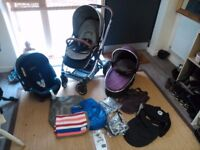 Oyster 2 Travel System 3in1 Carrycot/ Buggy&Car seat - Plus Extras