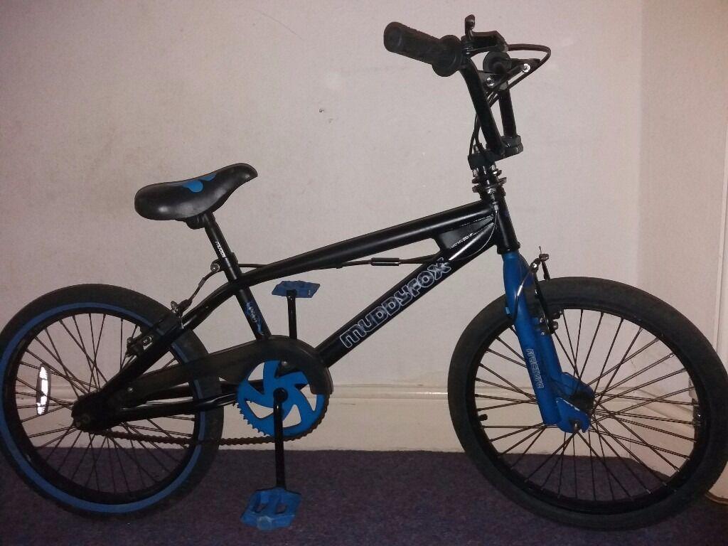 Muddyfox Fracture Bmx Bike In Black And Blue 20 Quot Wheels