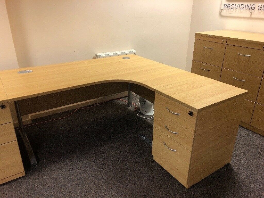 Office Furniture Desk And One Drawer Unit