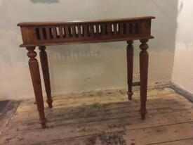 Hardwood reproduction Console Table.