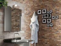 NEW - Porcelain Brick Reproduction Tiles £29.50