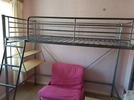High sleeper metal bed