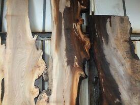 Various Hardwood Timber Slabs (Oak, Yew, Elm etc)