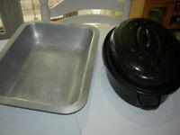 Large Roasting Pan and Caserole Pan
