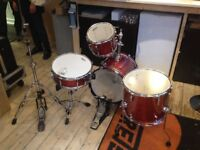Sonor Safari - 4 Pc. Small Drumkit, Drum Kit with hardware! (Final price £299!)