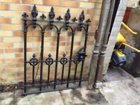 Antique cast iron gate and posts