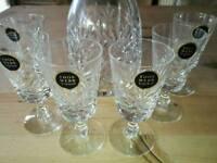 Thomas Webb Crystal Decanter & 6 Glasses
