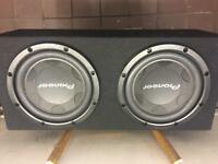 2x Pioneer TS-W306C subwoofer