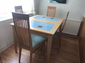 Beechwood Extendable Dining Table & 4 Chairs