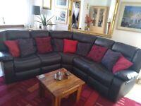 Beautiful brown corner suite
