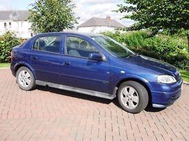 Vauxhall Astra Elegance, 1.6, 5-Door Hatchback, Petrol, Royal Blue, 2004