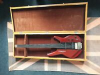 Washburn Series 1000 Design Status 4 Sting Bass Guitar with box (fretless and headless)
